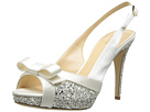 Kate Spade New York - Grano (Ivory Satin/Silver Grey Glitter) - Footwear