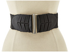 Cole Haan - Straw Stretch Belt (Black) - Apparel