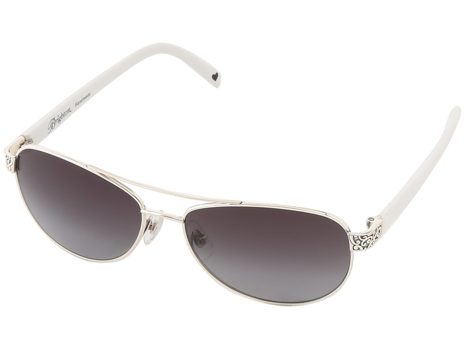 Brighton - Sugar Shack Sunglasses (White/Silver) Fashion Sunglasses