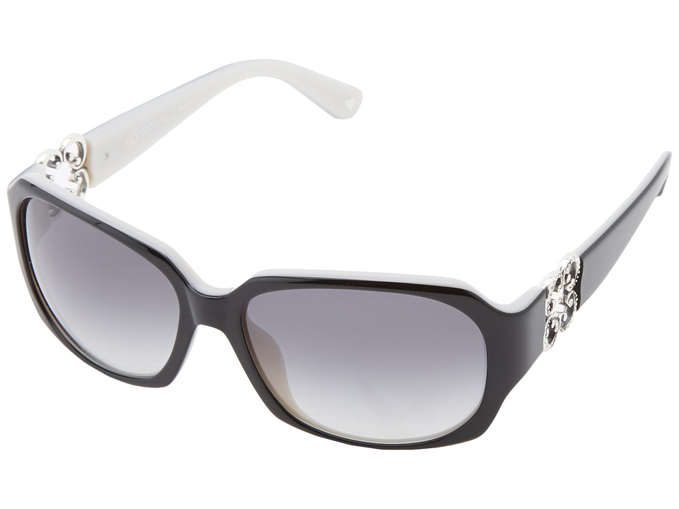 Brighton - Crystal Breeze Sunglasses (Black/Pearl White) Fashion Sunglasses