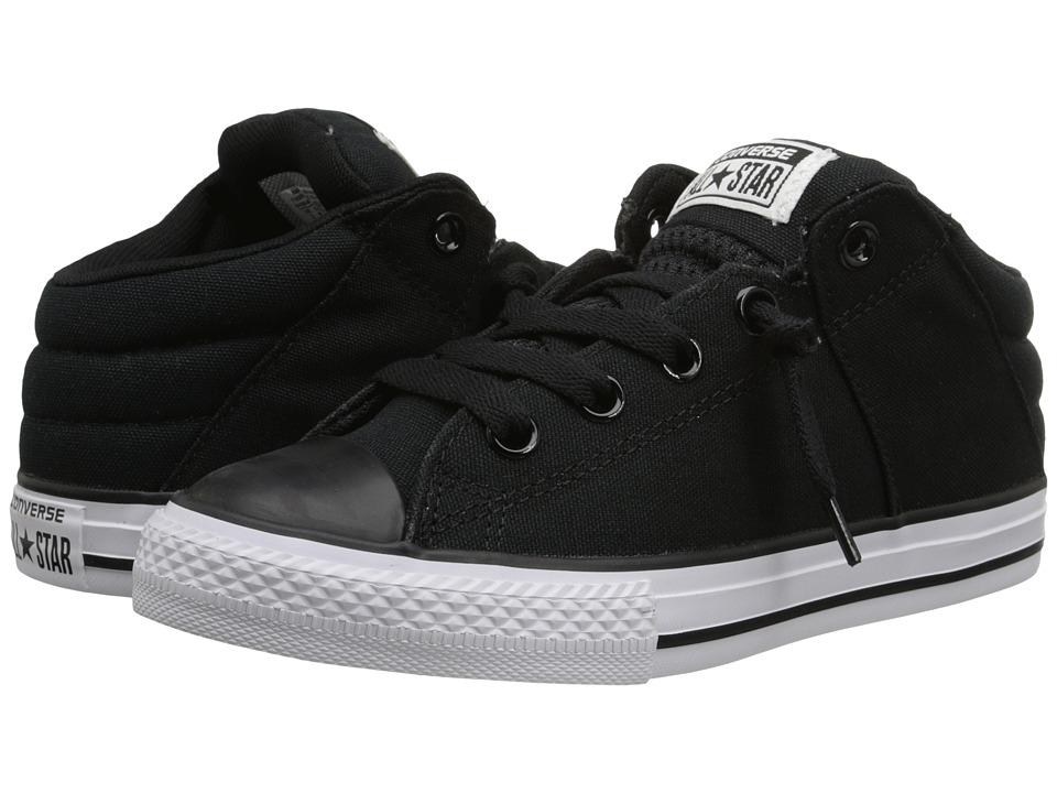 Converse Kids - Chuck Taylor All Star Axel Mid (Little Kid/Big Kid) (Black/Black) Boys Shoes