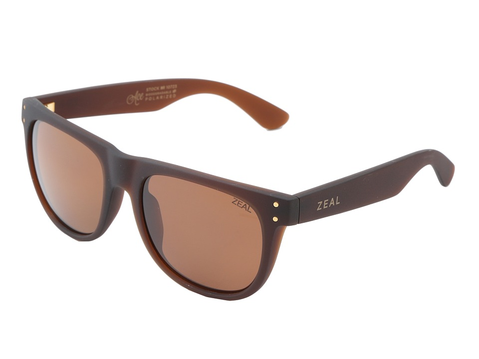 Zeal Optics Ace Bombay Brown w / Copper Polarized Lens Athletic Performance Sport Sunglasses