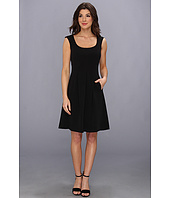 Nine West - Tech Crepe Woven Cap Sleeve Fit & Flare Dress
