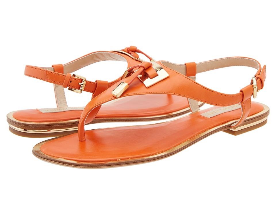 Shop Michael Kors online and buy Michael Kors Hara Orange Smooth Calf Womens Sandals online