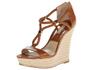 Michael Kors Collection - Sherie (Luggage Braid Smooth Calf/Specchio) - Footwear