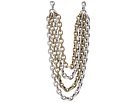 Gypsy SOULE - 5 Strand Large Link Necklace (Silver/Gold)