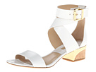 Michael Kors Collection - Tulia (Optic White Smooth Calf/Cork) - Footwear