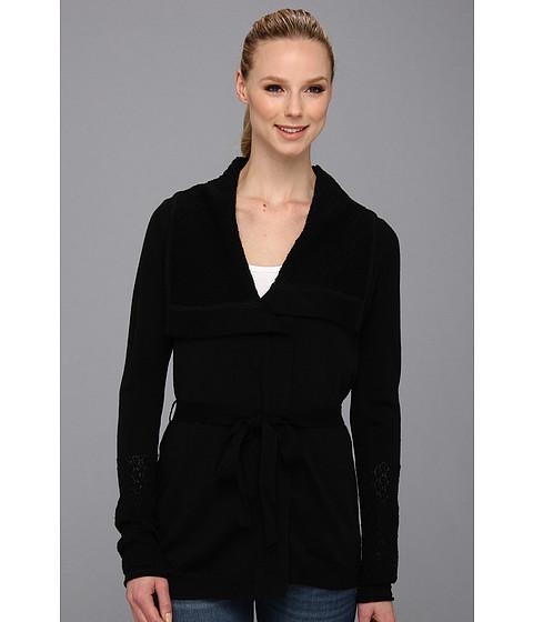search calvin klein crochet sweater jacket black. Black Bedroom Furniture Sets. Home Design Ideas