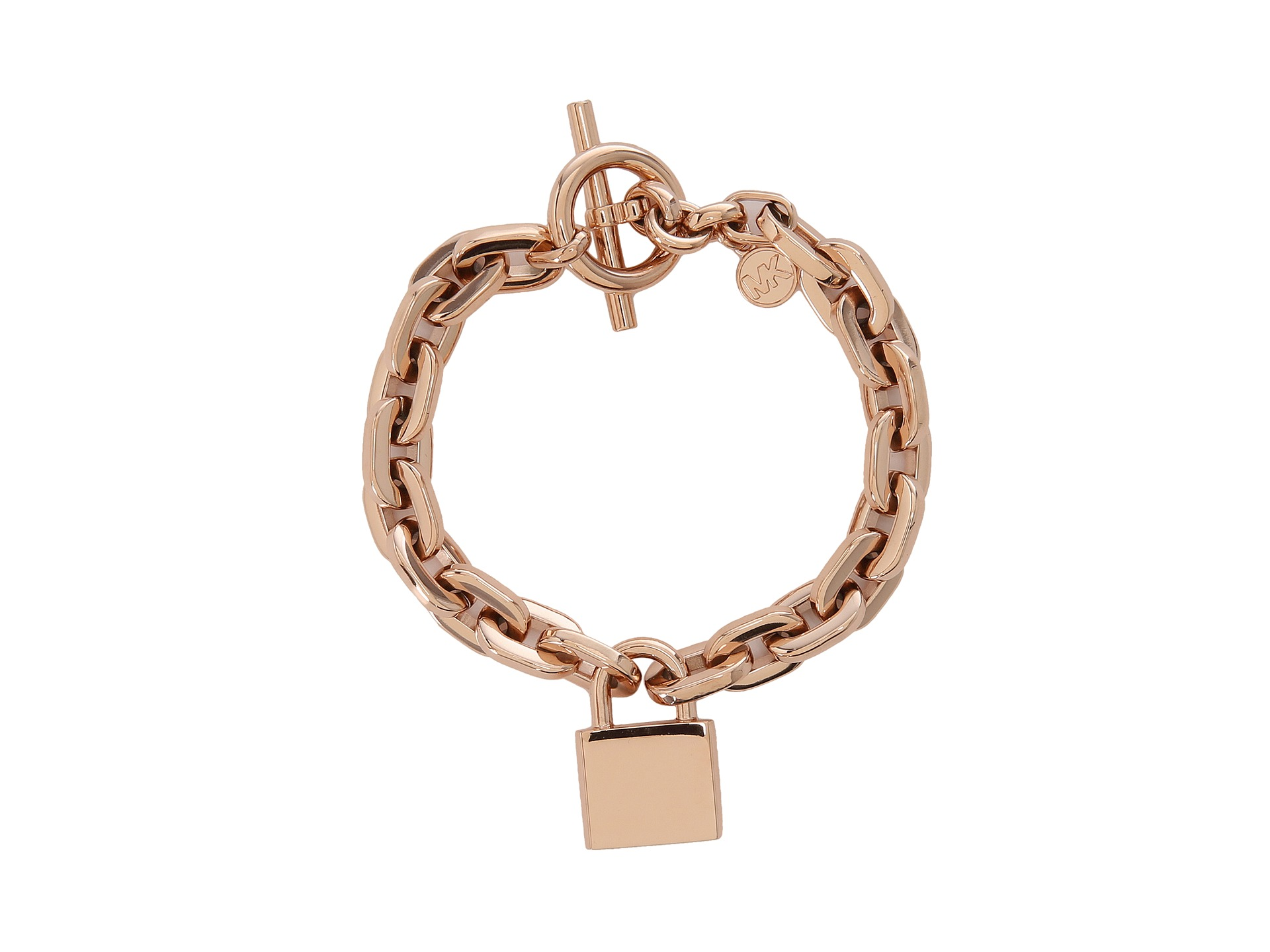 michael kors collection chainlink padlock toggle bracelet