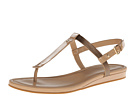 Cole Haan - Boardwalk Thong (Sandstone Patent/Ch Gold Metallic) - Footwear