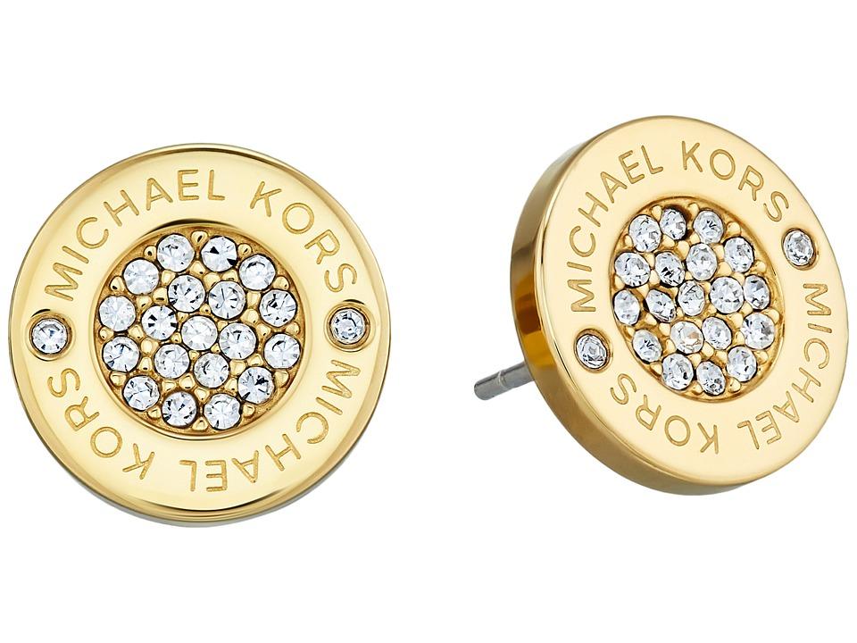 Michael Kors - Logo with Clear Pav Center Stud Earring
