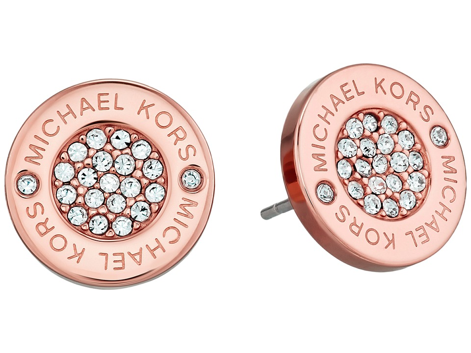 Michael Kors - Logo with Clear Pave Center Stud Earring