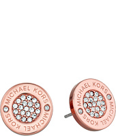 Michael Kors - Logo with Clear Pavé Center Stud Earring