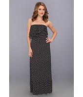 Tbags Los Angeles - Layered Ruffle Tube Maxi Dress