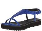 10 Crosby Derek Lam - Dessa (Royal Blue Matte Cut Snake Print Leather) - Footwear
