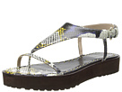 10 Crosby Derek Lam - Dessa (Yellow Tribal Snake Print Leather) - Footwear