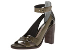 10 Crosby Derek Lam - Safra (Army Green/Black Mini Striped Snake Print) - Footwear