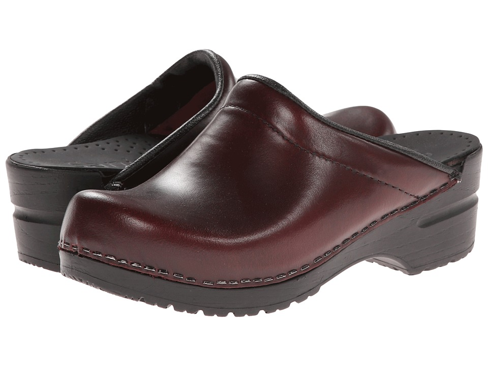 Sanita Sonja Cabrio (Bordeaux) Women's Clog/Mule Shoes