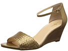 Cole Haan - Rosalin Weave Wedge (Ch Gold Metallic) - Footwear