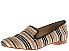 Cole Haan - Sabrina Loafer (Black/Sandstone/Ivory Striped Raffia) - Footwear