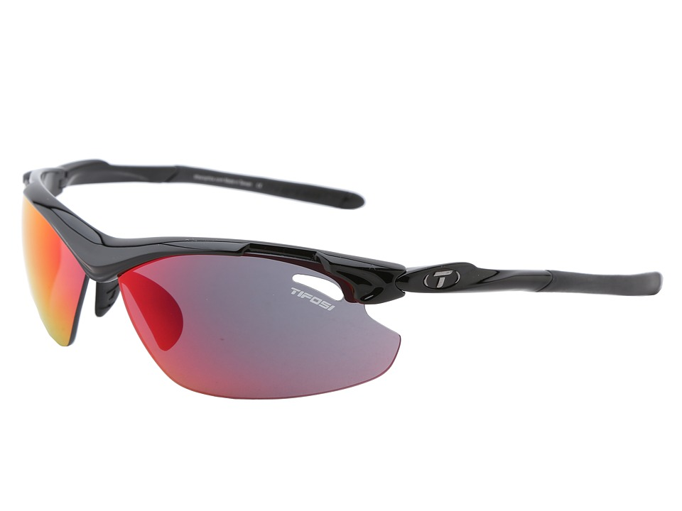 Tifosi Optics - Tyranttm 2.0 Mirrored All Sport Interchangeable (Gloss Black/Clarion Red/GT/EC Lens) Athletic Performance Sport Sunglasses