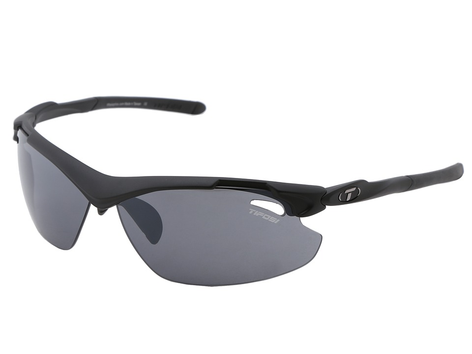 Tifosi Optics - Tyranttm 2.0 Interchangeable (Matte Black/Smoke/AC Red/Clear Lens) Athletic Performance Sport Sunglasses