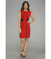 London Times - Sleeveless Crew Neck Sheath