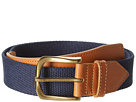 Cole Haan - Driving Belt (Camello/Blazer Blue Canvas) - Apparel
