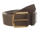 Cole Haan - Driving Belt (Black/Ironstone Canvas) - Apparel