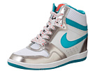 Nike - Force Sky High PRM Sneaker Wedge (Pure Platinum/Metallic Pewter/Light Crimson/Turbo Green)