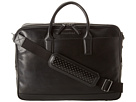 Cole Haan - Madison Collection Double Zip Brief (Black) - Bags and Luggage