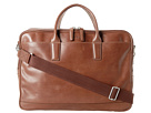 Cole Haan - Madison Collection Double Zip Brief (Mahogany) - Bags and Luggage