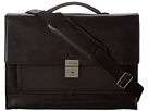 Cole Haan - Madison Collection Flap Brief (Black) - Bags and Luggage