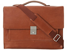 Cole Haan - Madison Collection Flap Brief (Mahogany) - Bags and Luggage