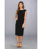 Adrianna Papell - Crepe Tuck Detail Sheath Dress