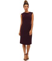 Adrianna Papell - Crepe Tuck Detail Sheath Dress