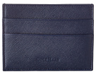 Cole Haan - Madison Collection Card Case/Money Clip (Blazer Blue Saffiano) - Bags and Luggage