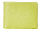 Cole Haan - Madison Collection Slim Billfold Wallet (Sprig Saffiano) - Bags and Luggage