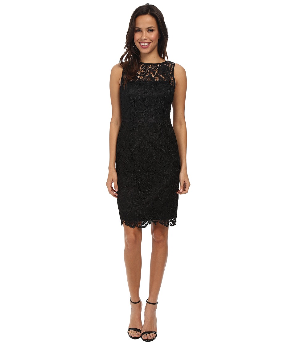 Adrianna Papell - Illusion Neck Lace Dress