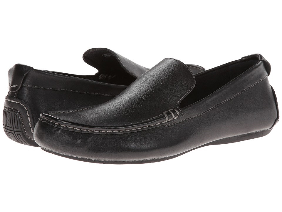 VIONIC Parker Black Mens Slip on Shoes