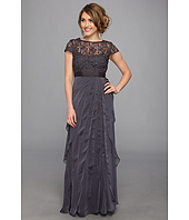 Adrianna Papell - Lace Bodice w/ Flutter Skirt