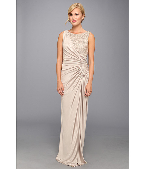 Adrianna Papell Lace Jersey Gown