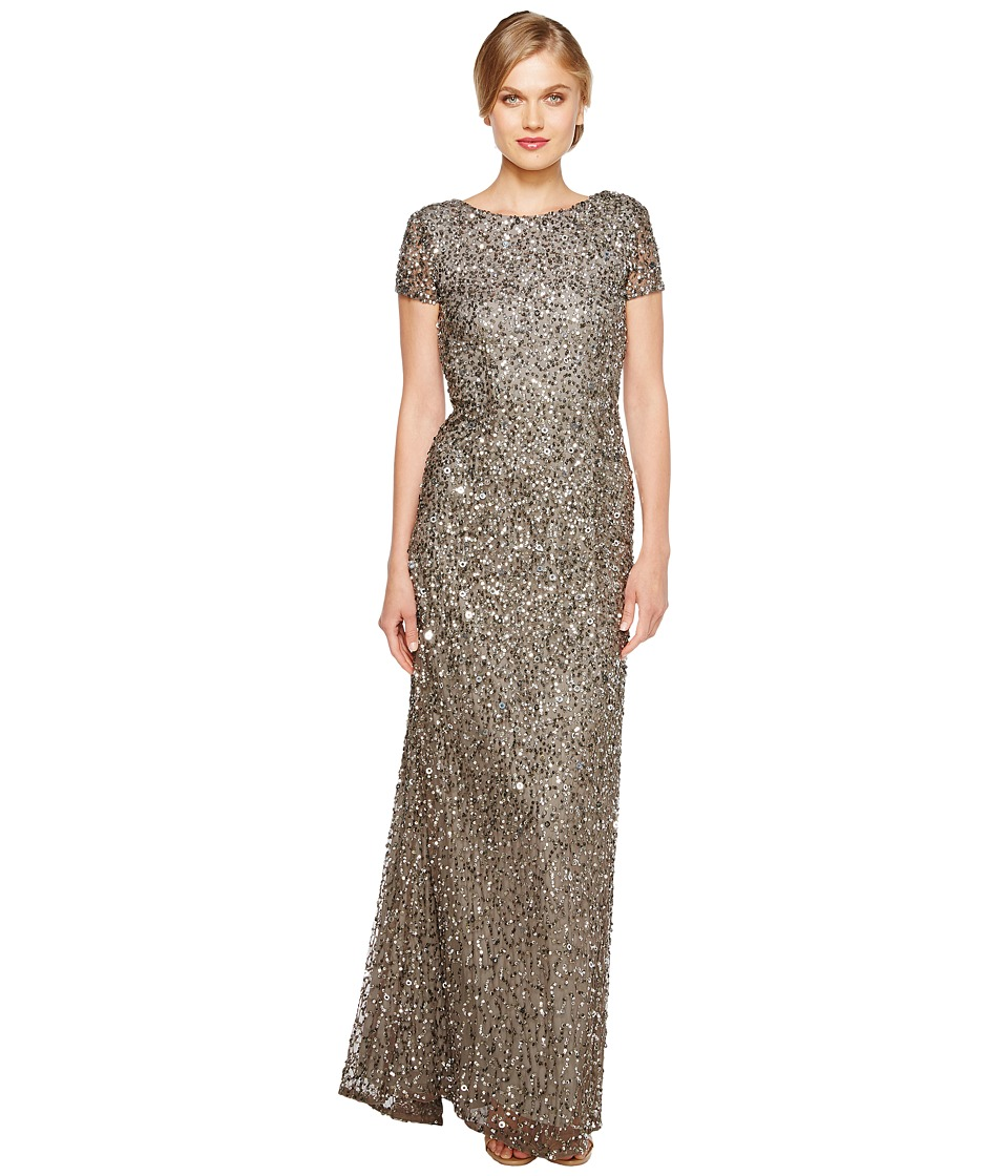 Adrianna Papell Adrianna Papell - Cap Sleeve Scoop Back Beaded Down Gown