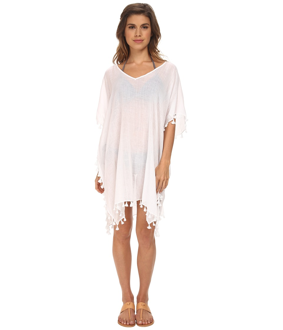 Seafolly Future Tribe Amnesia Kaftan Cover-Up (White) Women