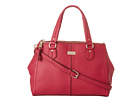 Cole Haan - Village Double Top Zip Satchel (Raspberry) - Bags and Luggage