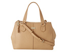 Cole Haan - Village Double Top Zip Satchel (Sandstone) - Bags and Luggage
