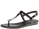 Cole Haan - Boardwalk Thong (Black/Black Patent) - Footwear