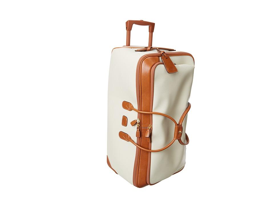 Brics Milano Firenze 28 Rolling Duffle Cream Duffel Bags