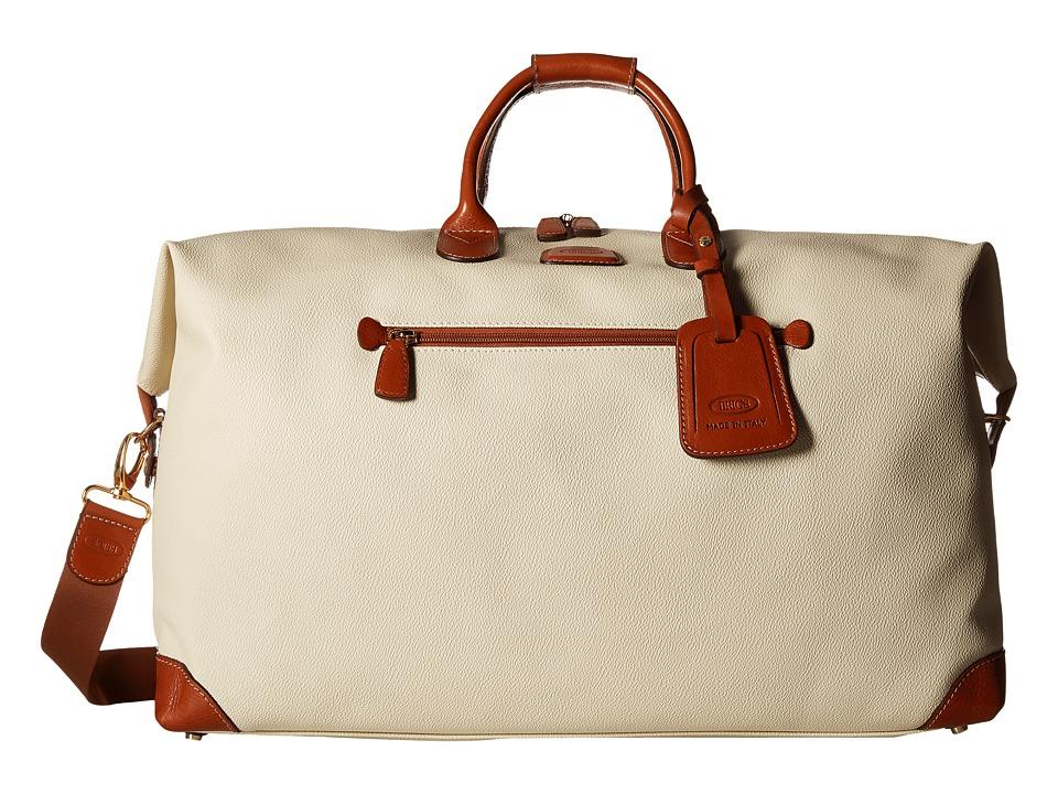 Brics Milano Firenze 22 Cargo Duffle Cream Duffel Bags