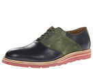 Cole Haan - Christy Wedge Saddle (Blazer Blue/Olive Suede) - Footwear
